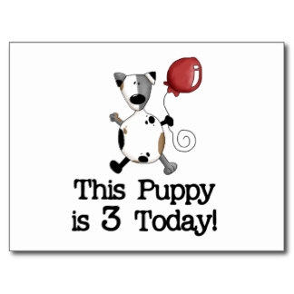 puppy_is_3_birthday_tshirts_and_gifts_postcard-r4478cbc26bc240f2ba1e61b7bc9f3518_vgbaq_8byvr_324